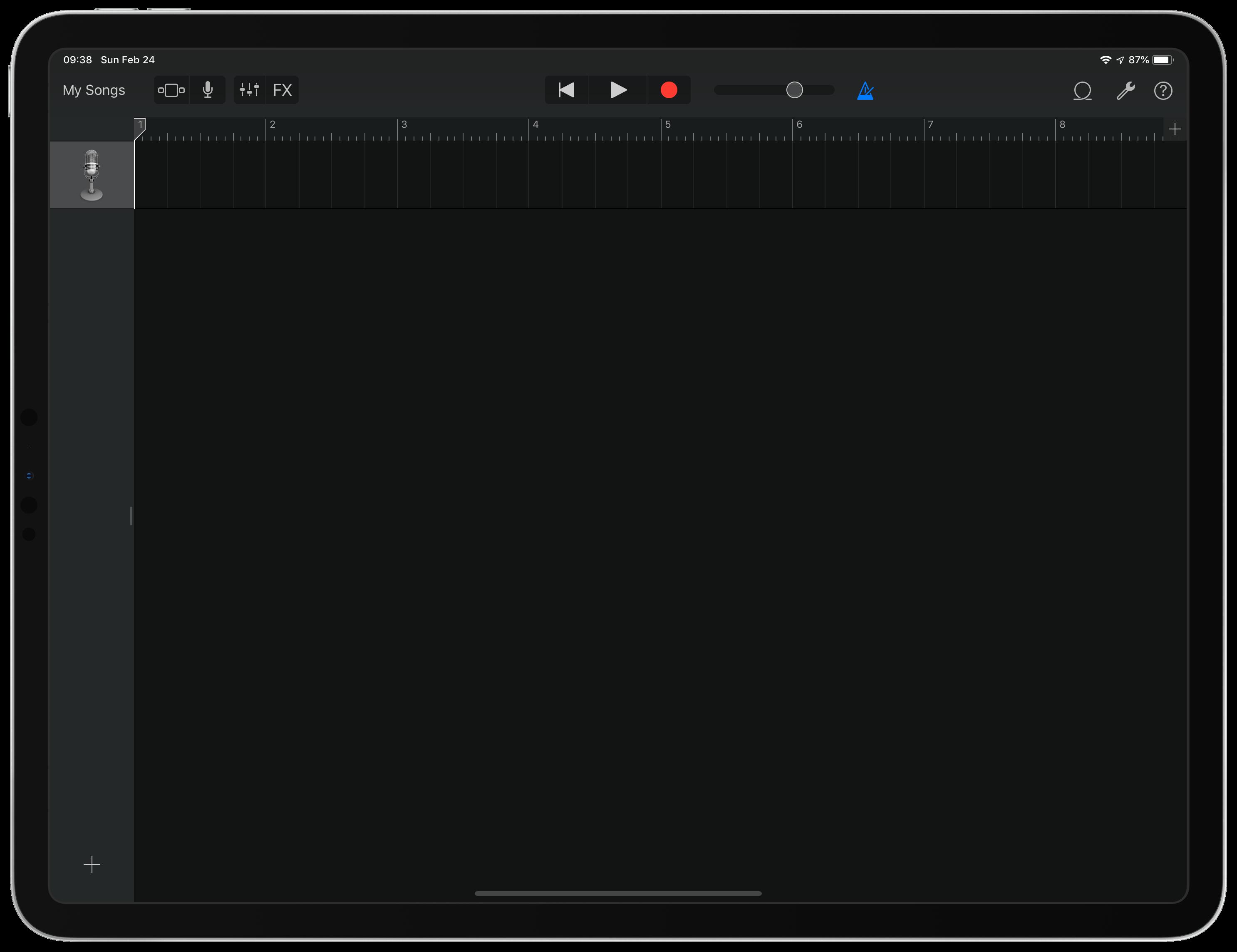 GarageBand Track View